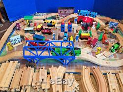 150+ Thomas & Friends Wood Trains Set Engine Shed Wooden Track Accessories Lot
