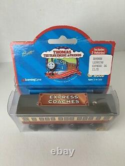 1998 Thomas Train Friends Express Coaches Wooden Railway Brown Label