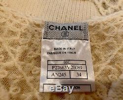 $2090 CHANEL Vintage 01p Logo 34 36 2 4 6 Cashmere Dress Sweater Top Shirt S