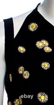 $2k CHANEL 02p Vintage Crochet Logo 36 38 40 2 4 6 8 Crop Tank Blouse Shirt TOP