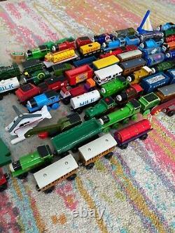 80+ piece Thomas Wooden Railway lot USED