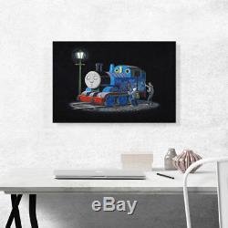 ARTCANVAS Thomas The Train Engine Tank Canvas Art Print by Banksy