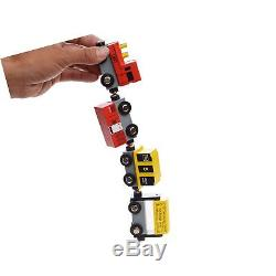BELUCE Wooden Train Cars Set Includes Wooden Engines, Magnetic Train Baby Toy
