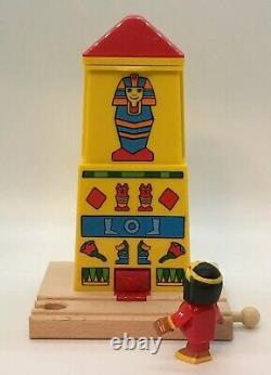 BRIO Egypt Egyptian Mummy Tower Cleopatra Surprise Thomas Wooden Train Set Lot