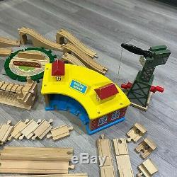 BRIO Thomas the Tank Engine Wooden Track & Trains Set Bundle Lot 100+ Pieces ELC