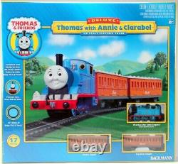 Bachmann 00642 Deluxe Thomas with Annie & Clarabel E-Z Track Train Set HO Scale