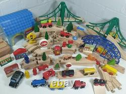 Brio elc ikea carousel Wooden Train track huge Bundle 100+ pieces garage railway