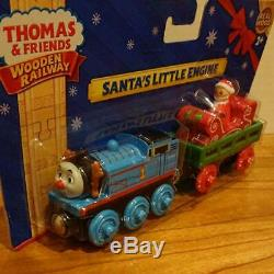 F/S Out of Print Rare! Wooden Thomas Santa Little Engine