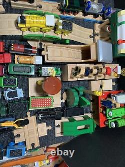 HUGE 120 Pc. Lot of Thomas the Train Wooden Railway Tracks, Buildings, Engines