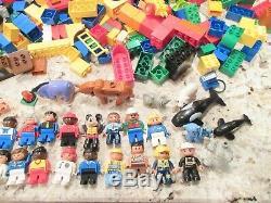 HUGE Lot 20 POUNDS! Lego DUPLO Blocks 35 People 15 Animals Airplane L@@K