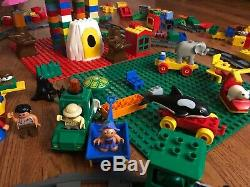 HUGE Lot 20 POUNDS! Lego DUPLO Blocks People Train Animals Vehicles Bases L@@K