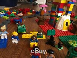 HUGE Lot 20 POUNDS! Lego DUPLO Blocks People Train Animals Vehicles Bases L@@K