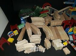 HUGE Lot 25 lbs 200+ pc of Wooden Thomas the Train, Brio Trains Track SEE PICS