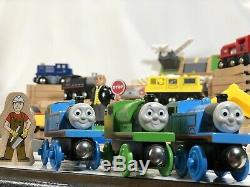 HUGE Lot Track/Accessories Thomas and Friends Brio Trains Wooden 100+ Pieces