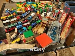 HUGE Lot Wooden Thomas The Train Toys 150+ Pieces Track Bridges 39 Trains/Cars