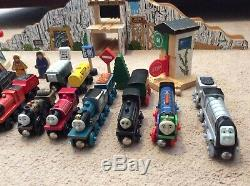 HUGE lot Thomas The Train Wooden Railway, Tracks, Trains, Bridges, Tomy Sodor
