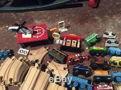 HuGe Thomas And Friends Wooden Railway Railroad Wood Curved Train Tracks Lot Toy