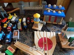 Huge 150+ Pc Lot Thomas The Tank Engine Train Cars (48) Track (80) Structures