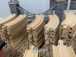 Huge 230 pc Lot Wooden Thomas the Train Brio Track Bridge Cars
