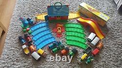 Huge Bundle My First Thomas Golden Bear Trains Track Bridge & Engine Shed