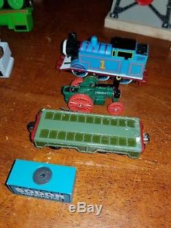 Huge Lot 65 Thomas Train Wooden Railway Engines Tender and Cars windmill cranky