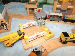 Huge Lot Thomas the Train Wooden trains tracks buildings cars lights sounds