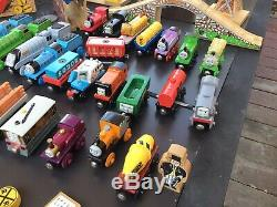 Huge lot of THOMAS THE TANK ENGINE Wooden Railway, TRAINS, TRACKS, DESTINATIONS