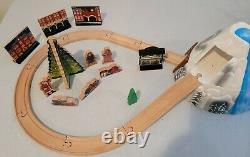Imaginarium Lionel Wooden Polar Express Train set VGUC works with Thomas