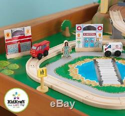 KidKraft 100-Piece Wooden Train Table Set Thomas & Friends Railway Track Kids