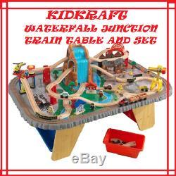 KidKraft Waterfall Junction Train Set & Table, Gray