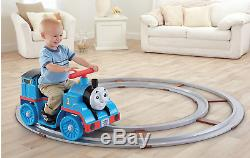 Kids Rideable Thomas Train Ride On Tracks Battery Powered Operated Engine Big