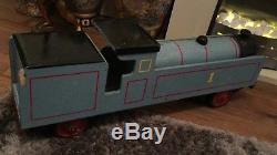 Large Hand Made Wooden Thomas The Tank Engine Ride on Train