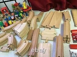 Large Wooden Train Track Job Lot Brio / Thomas Compatible Set