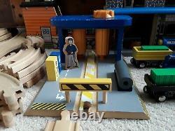 Lg Lot Wooden IMAGINARIUM Railway Train Set Compatible With Thomas & Friends