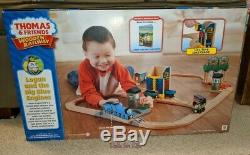 Logan and the Big Blue Engines Set Thomas & Friends Wooden Railway NEW
