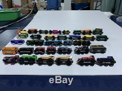 Lot Of 27 Thomas Wooden Engines / Train Cars, Terrance, Zoo, Coal