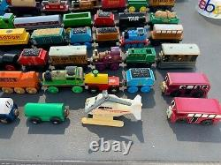 Lot Of Approx 75 Thomas the Tank Engine and Friends Wooden Trains Rare Vintage