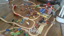 Lot Thomas the Train & Friends Brio ikea Wooden Train Track Pieces Bridges +