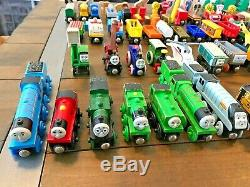 Lot of 149 Parts Thomas and Friends Tank Engine Wooden RARE Vintage