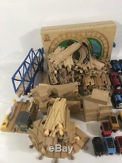 Lot of 183 Piece Thomas The Tank Engine Train And Wooden Track Mixed Sets