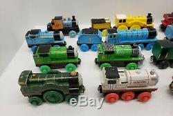 Lot of 20 Thomas The Tank Engine Wooden Trains Bulk Mostly Learning Curve Brand