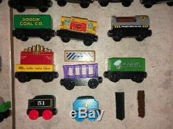 Lot of 49 Thomas The Train Tank Engine Wooden Trains and Cars Bulk RARE Vintage
