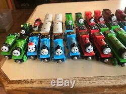 Lot of 60+ Thomas the train and Friends Wooden Railway Trains from 1999-2003