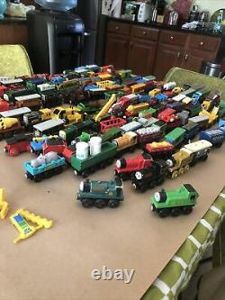 MASSIVE Lot Of 140 Thomas The Train & Friends Wooden / Die Cast Trains / Cars