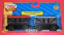 NEW Thomas Friends Wooden Railway Train Tank Engine Giggling Troublesome Trucks