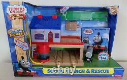 NEW Thomas Friends Wooden Railway Train Tank Sodor Search & Rescue + Promo DVD