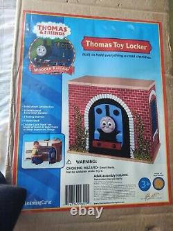 NEW Thomas Tank Engine Train Toy Box Cabinet Locker Sodor Station Learning Curve