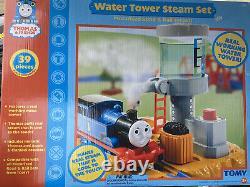 NEW! Thomas The Train & Friends Water Tower Steam Set Road Rail System 2006 NIB