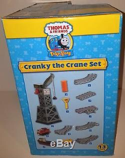 (NEWithSEALED) Thomas & Friends Die Cast Cranky the Crane Set 13 Piece Set withtrack