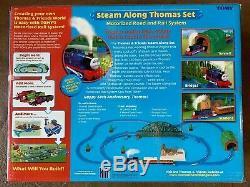 NIB NEW RARE Steam Along Thomas The Train Set Tomy 2005 Real Steam & Sounds Hit